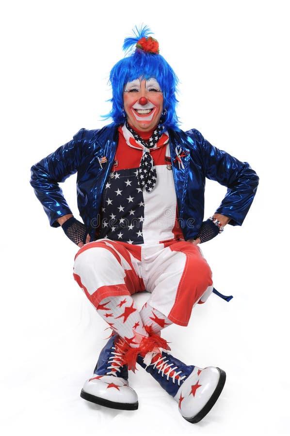 Clown-Sitzen lizenzfreies stockfoto