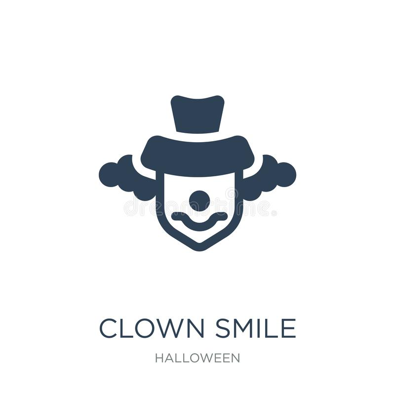 clown smile icon in trendy design style. clown smile icon isolated on white background. clown smile vector icon simple and modern royalty free illustration