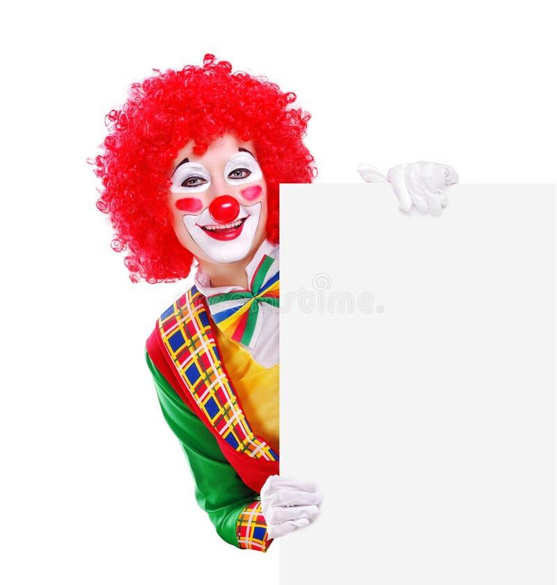 Clown som rymmer mellanrumet arkivfoton