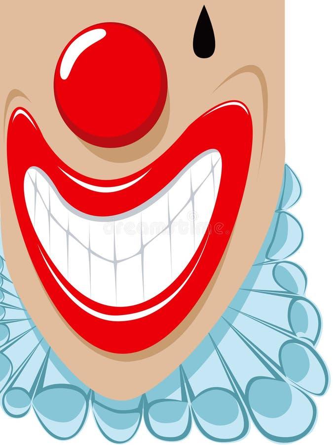clown som smilling vektor illustrationer