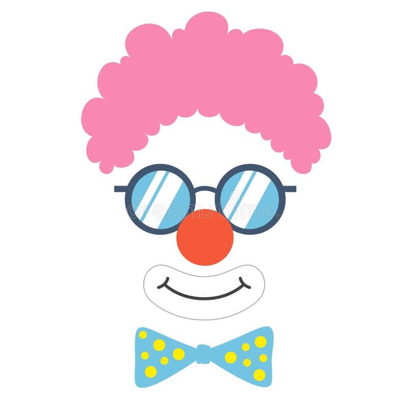 Clown stützt Gesicht vektor abbildung