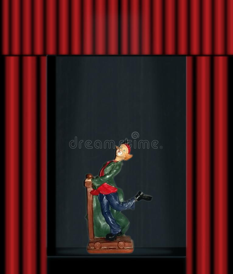 Clown on the stage royalty free stock photography
