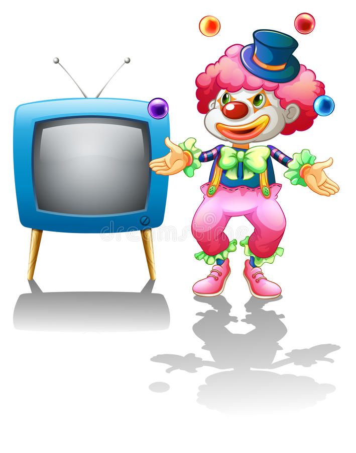 Download A Clown Standing Near The T.V. Royalty Free Stock Photography - Image: 31338977