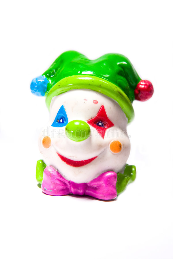 Clown toy stock image