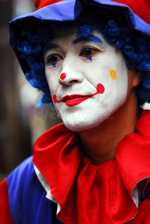 Clown triste images libres de droits