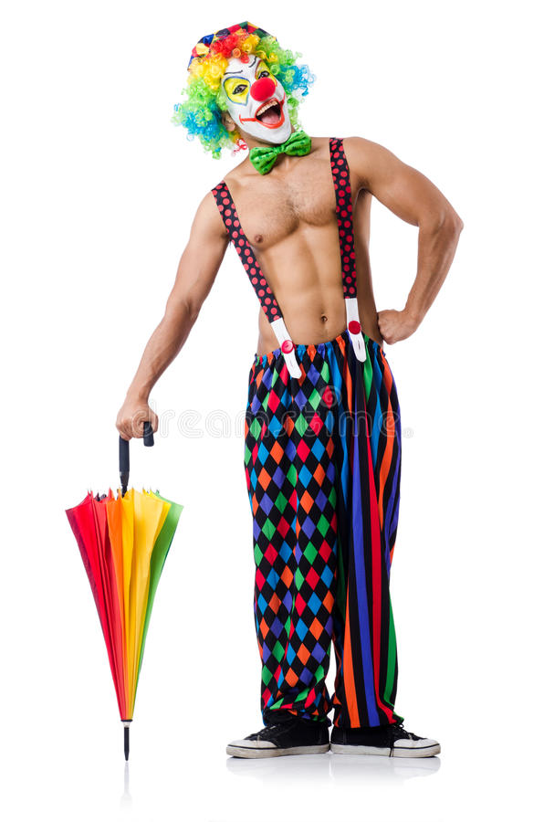 Download Clown with umbrella stock photo. Image of comic, entertainment - 33222946
