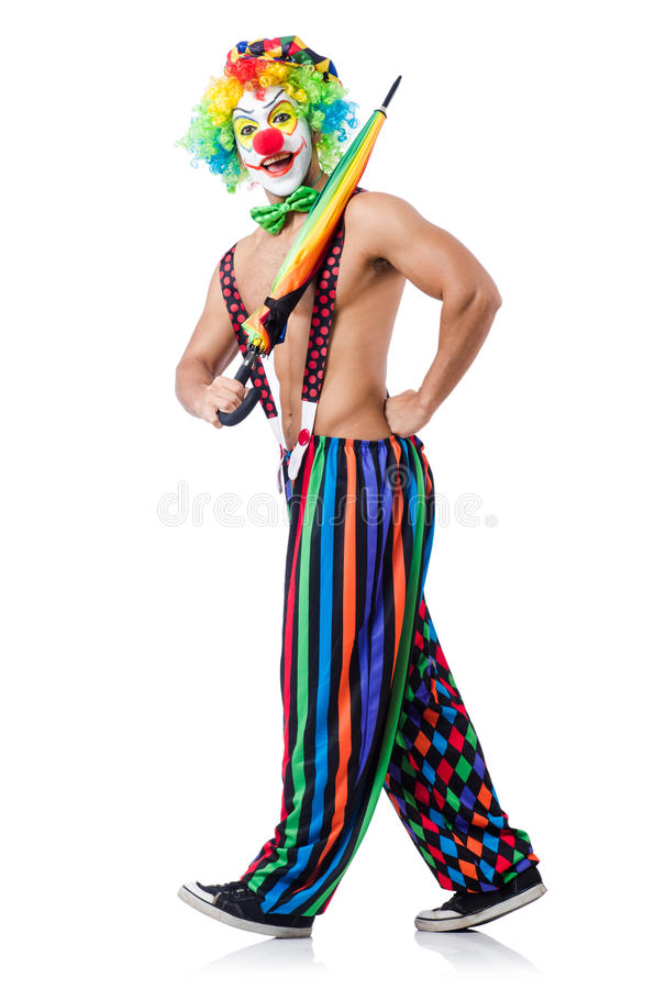 Download Clown With Umbrella Royalty Free Stock Photos - Image: 33222948