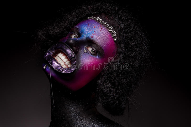 Clown- und Halloween-Thema lizenzfreies stockfoto