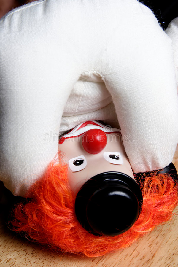 Download Clown Upside Down Looking At Own Royalty Free Stock Images - Image: 179729