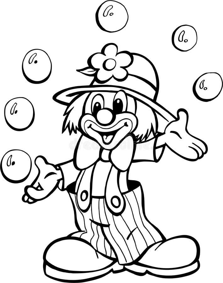 Clown van circus stock illustratie