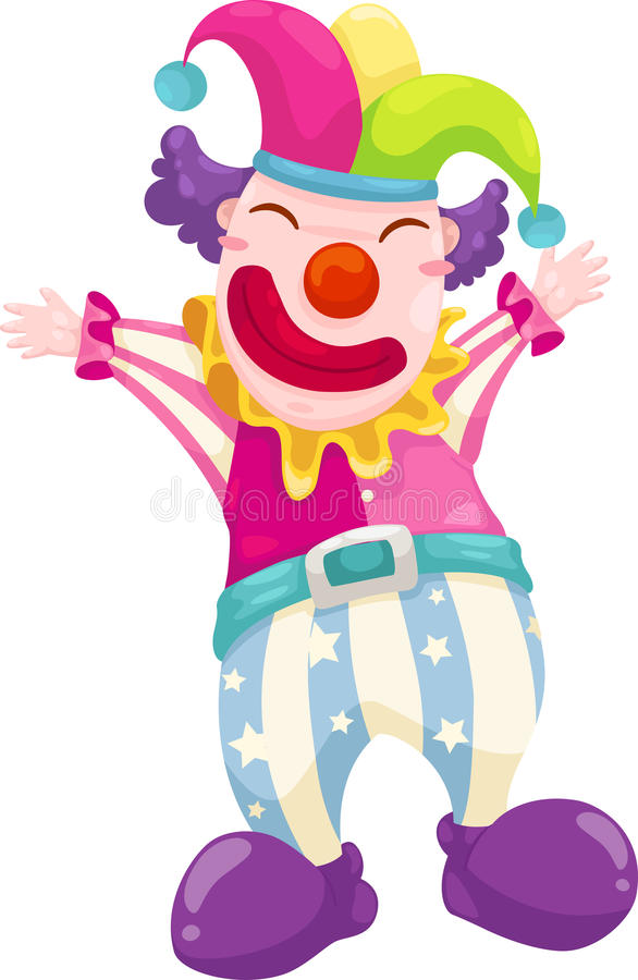 Clown vector. Clown illustration on a white background royalty free illustration