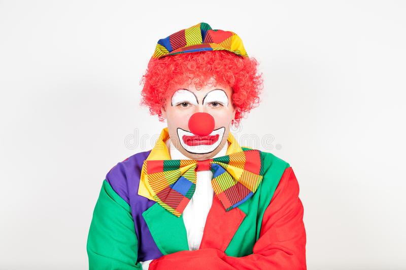 Clown vexé image stock
