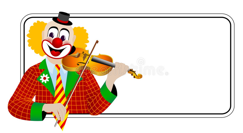 Clown the violinist. – one of series of clowns musicians royalty free illustration