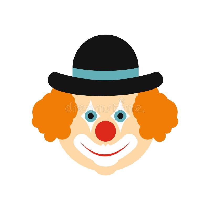 Clown vlak pictogram vector illustratie