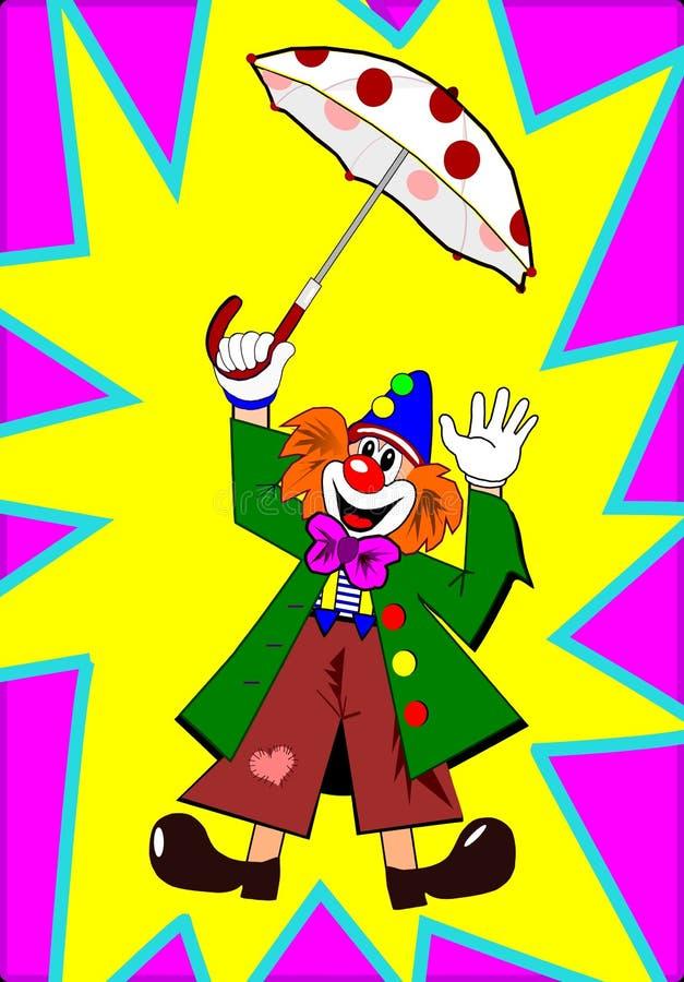 Free Clown With Umbrella Stock Photo - 5648230