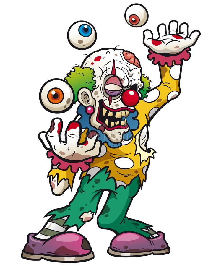 Clown zombie royalty free illustration