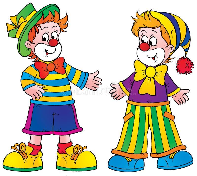 Clowne stock abbildung