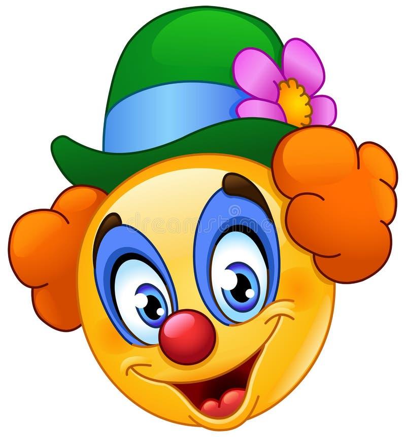 Clownemoticon royaltyfri illustrationer