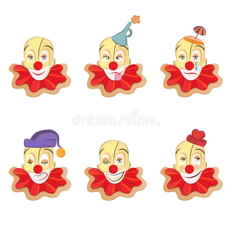 clownframsidaset royaltyfri illustrationer
