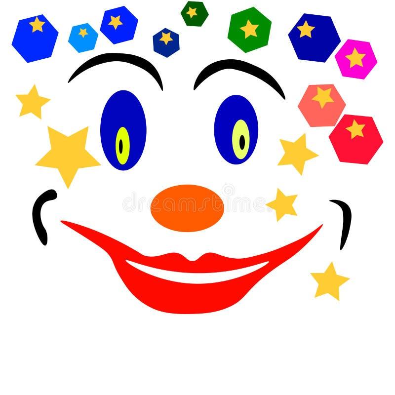 Clowngesicht lizenzfreie stockfotos
