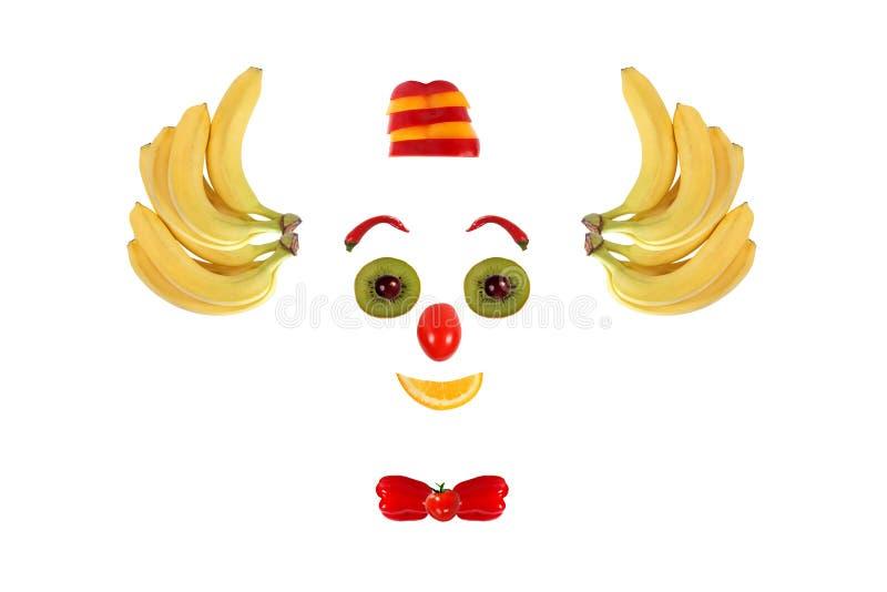 Clowngesicht Gemacht Von Den Obst Und Gemüse Von Stockfoto - Bild ...