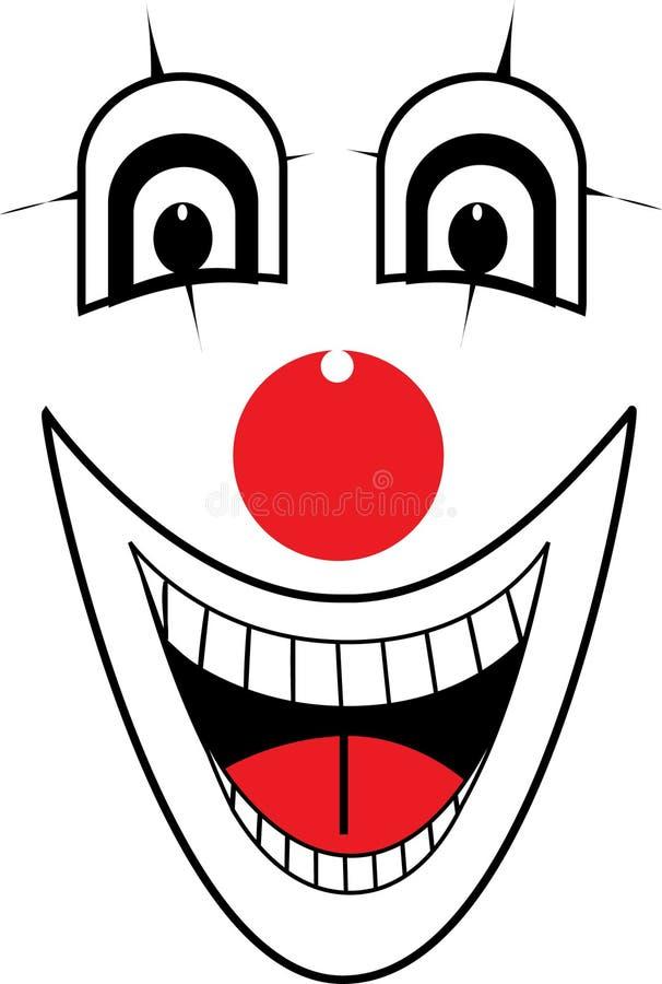 Clowngesichtsvektor lizenzfreie abbildung