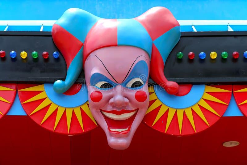 Clowngezicht royalty-vrije stock afbeelding