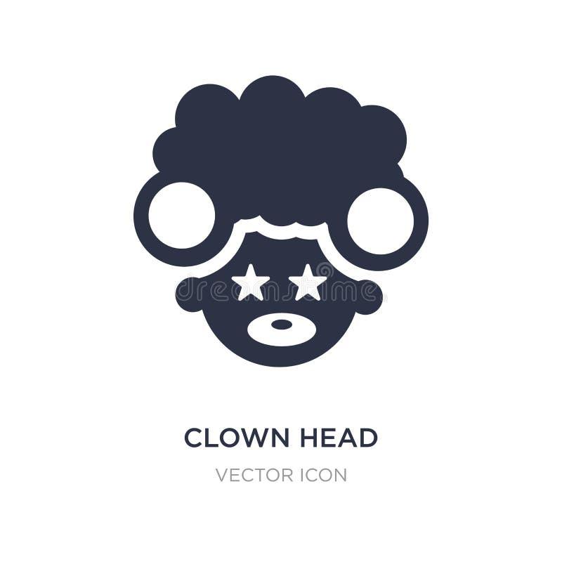 Clownhauptikone auf weißem Hintergrund Einfache Elementillustration vom Parteikonzept lizenzfreie abbildung