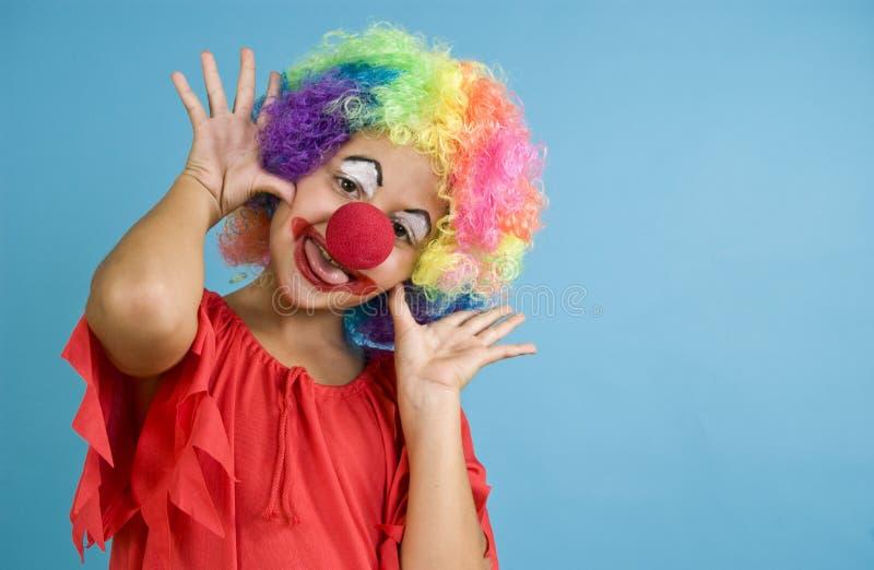 Clowning rond royalty-vrije stock foto's