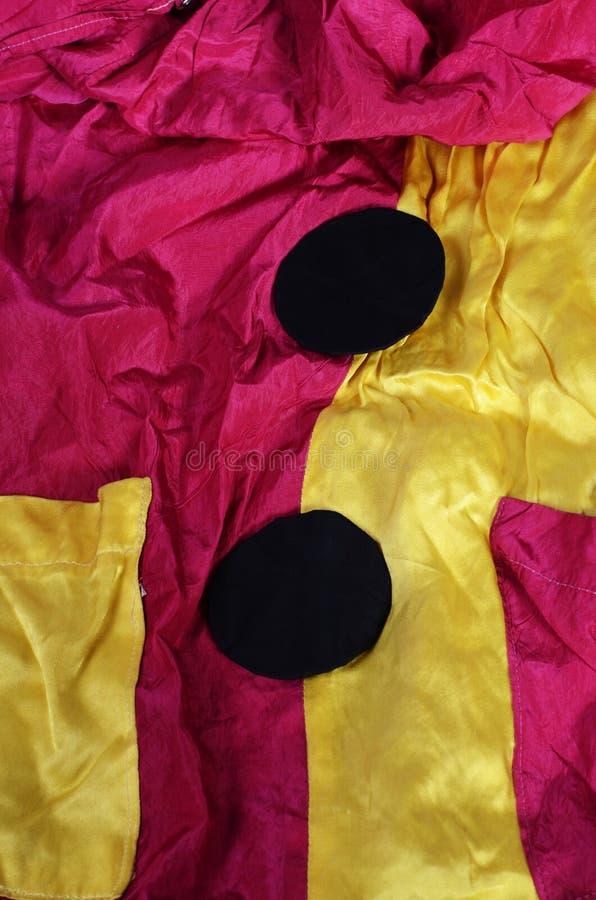 Clownkostümdetail lizenzfreie stockfotos