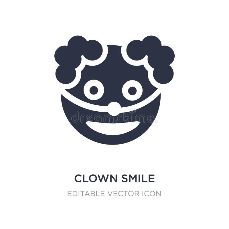 Clownlächelnikone auf weißem Hintergrund Einfache Elementillustration von Halloween-Konzept stock abbildung