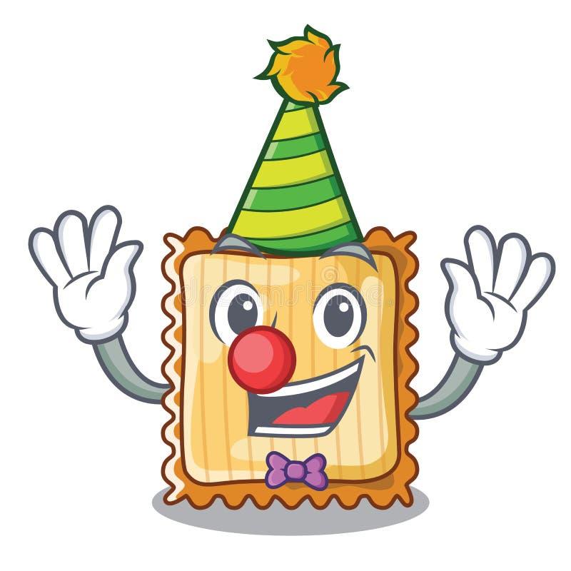 Clownlasagne tjänas som i tecknad filmplattor vektor illustrationer