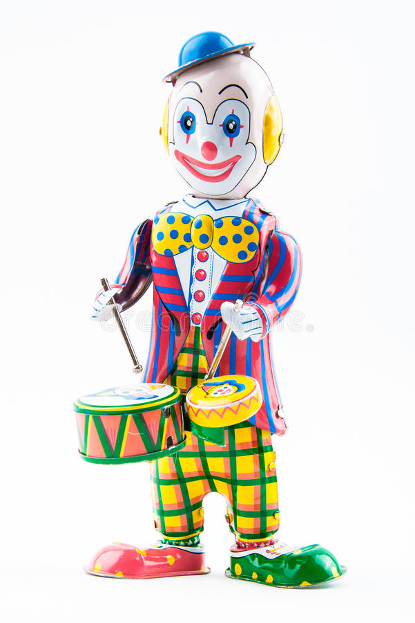 Clownleksak arkivbild