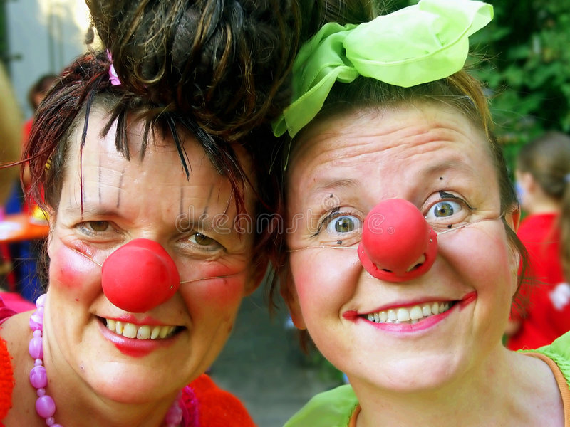 Clownpair royalty-vrije stock foto
