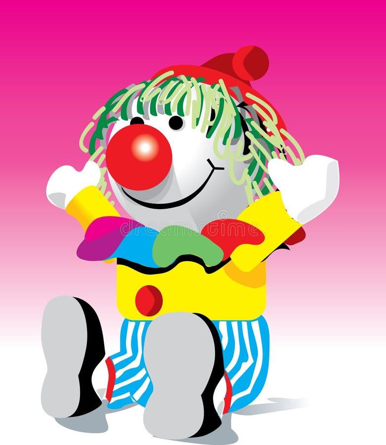 Clownpuppe lizenzfreie abbildung