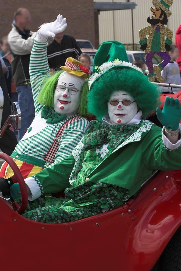 Clowns 3 royalty-vrije stock afbeeldingen