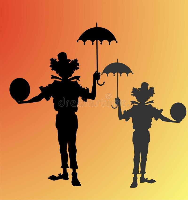 Clowns stock illustratie