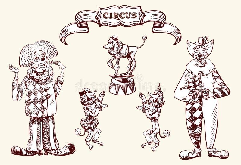 clowns vector illustratie