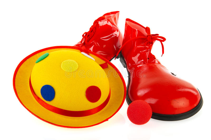 Download Clowns equipment stock photo. Image of shoes, white, nose - 18219928