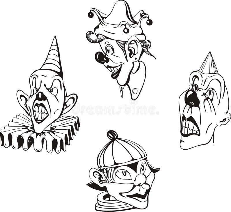 Clowns fous illustration libre de droits