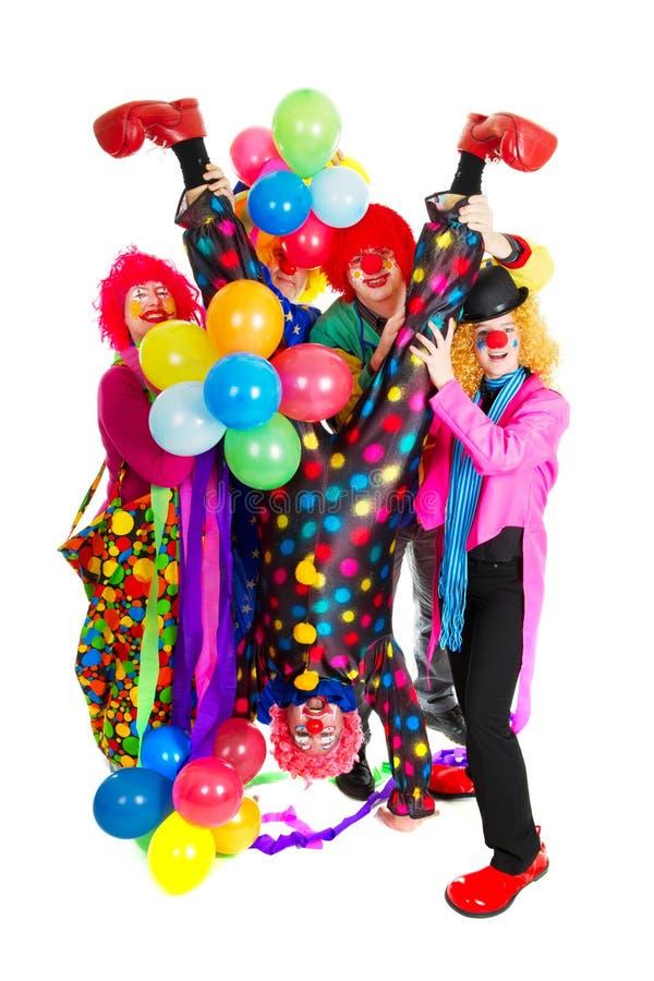 Clowns heureux photographie stock libre de droits