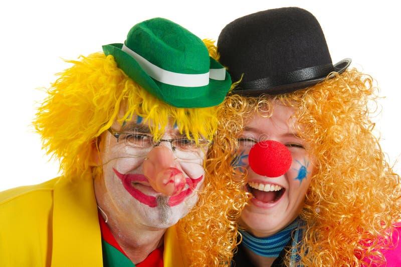 Clowns heureux photographie stock
