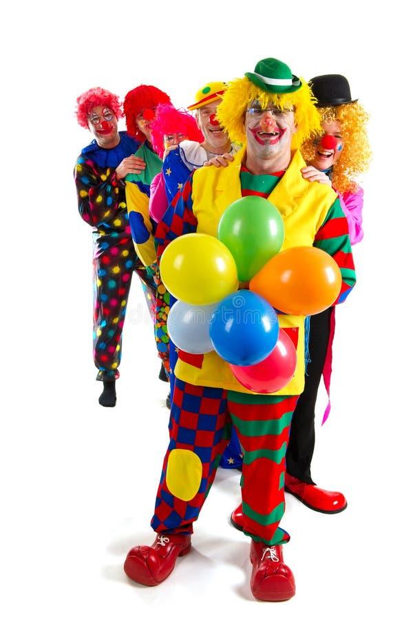 Clowns heureux photos libres de droits