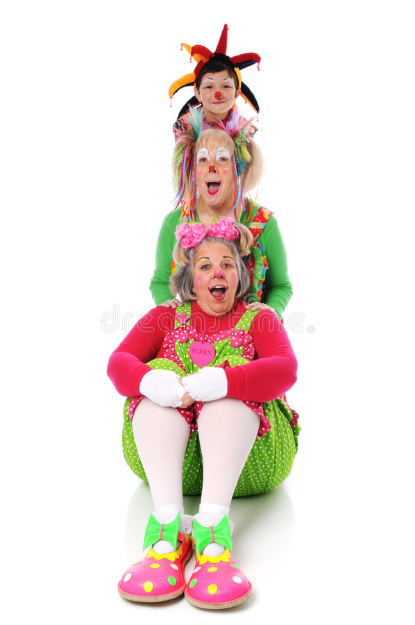Download Clowns Posing stock photo. Image of white, happy, female - 6301912