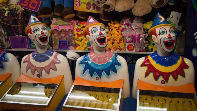 Clowns riants de carnaval photos stock