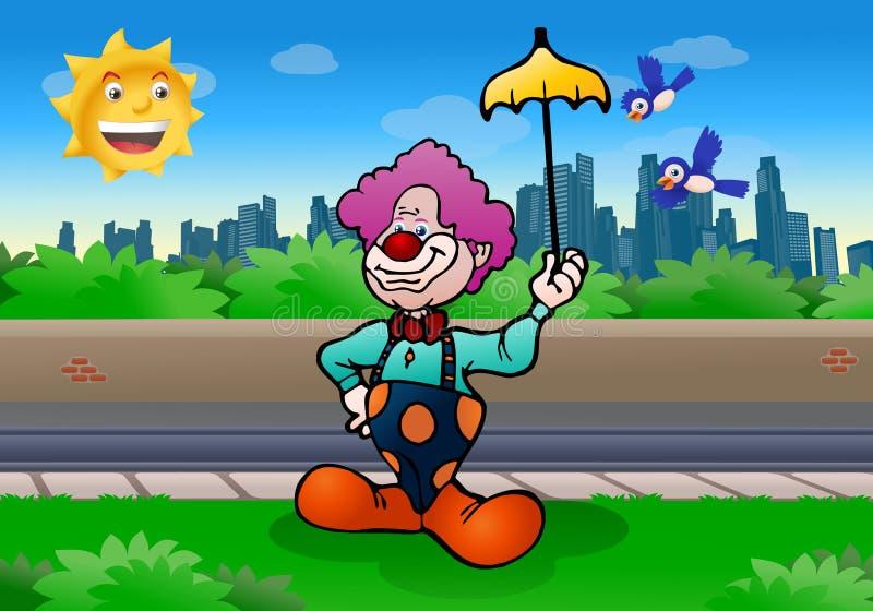 Download Clownschauspieler stock abbildung. Illustration von groß - 26354257
