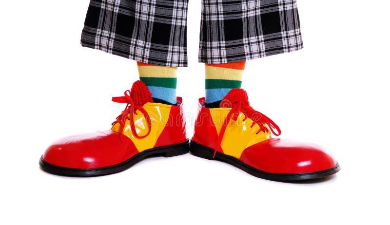 Clownschoenen stock foto's