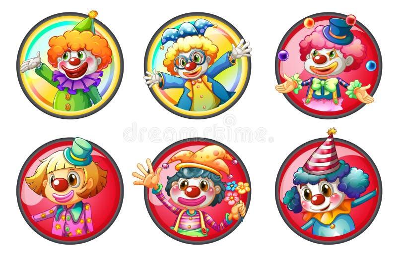 Download Clowntecken På Runda Emblem Vektor Illustrationer - Illustration av diagram, joker: 78732418