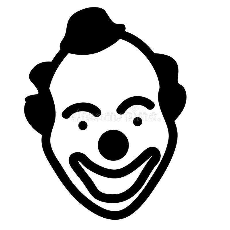 Clownvektor ENV Hand gezeichnet, Vektor, ENV, Logo, Ikone, crafteroks, Schattenbild Illustration für unterschiedlichen Gebrauch vektor abbildung
