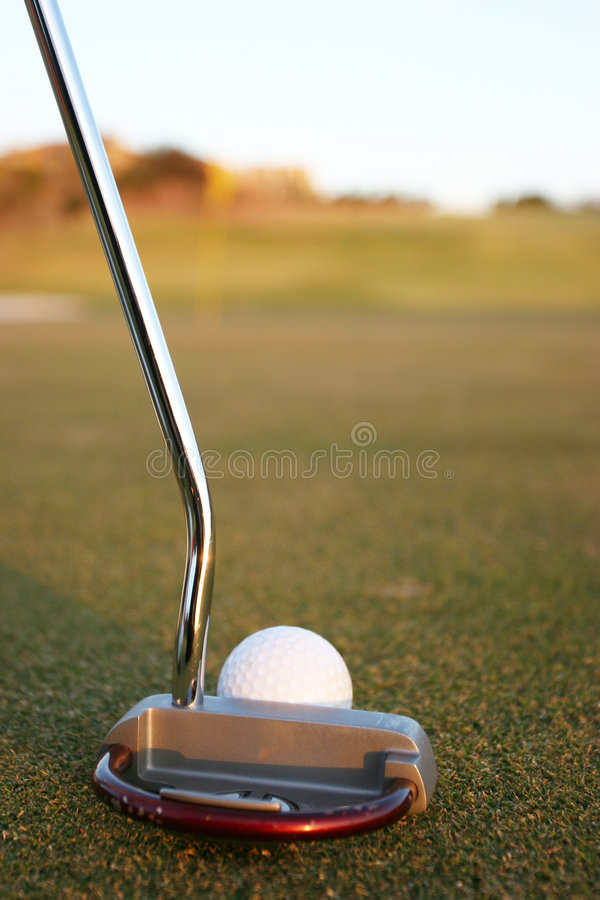Club and ball stock photo